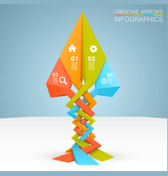 Arrows business growth vector