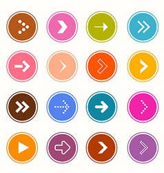 Arrows Set in Circles on White Background vector image