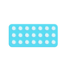 Blister pack of tablets vector