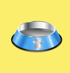 Chrome pet dish vector
