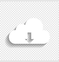 Cloud technology sign white icon with vector