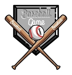 Color vintage baseball emblem vector image