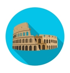 Colosseum in italy icon in flat style isolated on vector