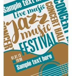 concert of jazz music vector image vector image