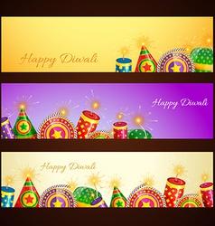 Diwali banner vector image vector image
