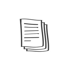 documents pile icon doodle line art or vector image vector image