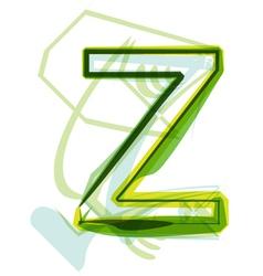 Green letter Z vector image vector image