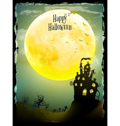 Halloween party greeting card EPS 10 vector image