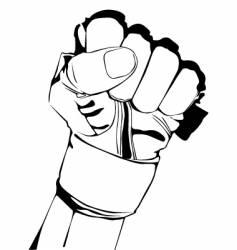 hand in glove vector image