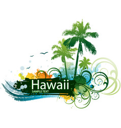 hawaiian tropical background vector image