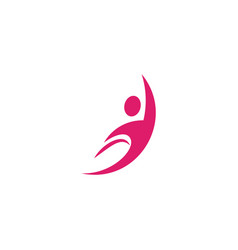 isolated abstract pink color human body in motion vector image vector image