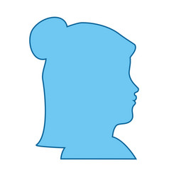 Isolated blue women face vector