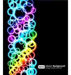 light rings vector image vector image