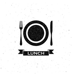 lunchtime label design vector image