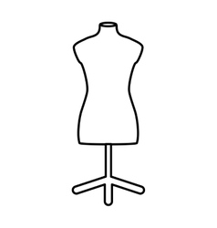 Manikin icon tailor and sewing graphic vector