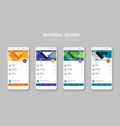 Material ui screens mockup kit vector