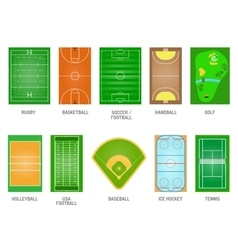 Playing fields set vector