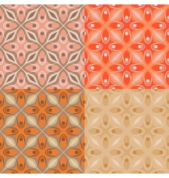 Set of 4 patterns with bold geometric shapes vector image