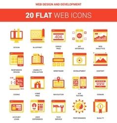 Web design and development vector