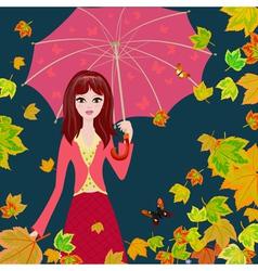 Autumn girl5 vector image