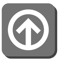 Direction up rounded square icon vector
