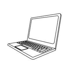 Computer laptop icon image vector