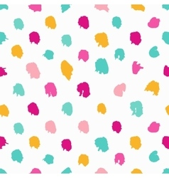 Colorful hand-drawn polka dot seamless pattern vector image