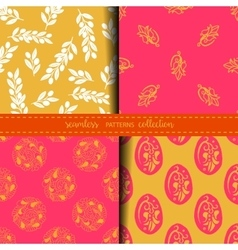 Set of Eastern Seamless Patterns vector image