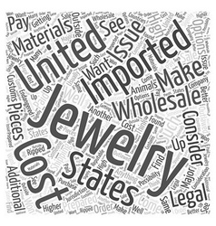 Importing jewelry wholesale word cloud concept vector