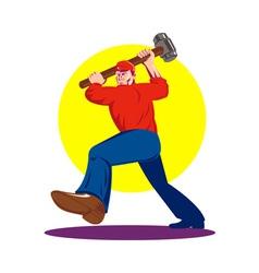 Work with sledgehammer vector