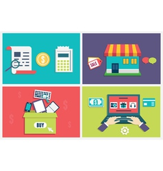 Concept of process online shopping vector