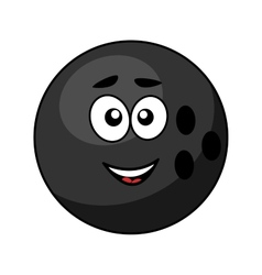 Black bowling ball with a happy smile vector