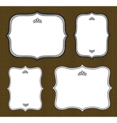 curved frame set vector image