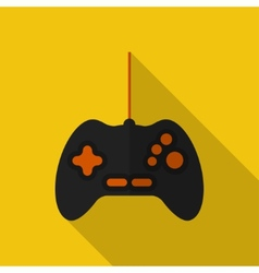 Flat gamepad with long shadow icon vector