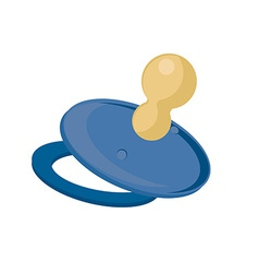 Blue baby nipple vector
