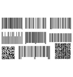 Bar codes and qr codes vector