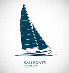 Sailing boats vector