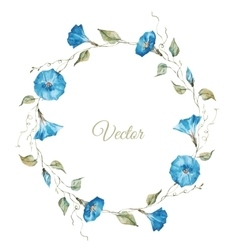Floral watercolor frame vector