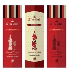 Three banners with wine vector