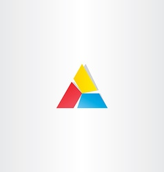 Red yellow blue triangle business logo vector