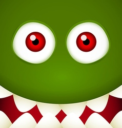 Green monster face vector