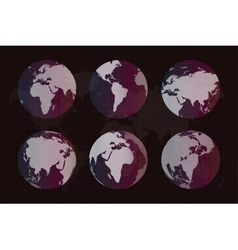 World map globe earth texture vector