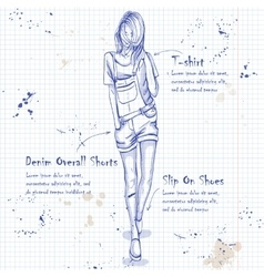 Trendy look on notebook page vector