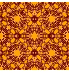 Seamless texture on orange ornamental backdrop vector