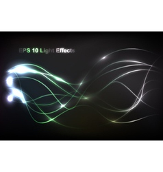 abstract light flow vector image