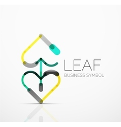 abstract logo idea eco leaf nature plant vector image