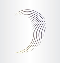 abstract wave design element vector image