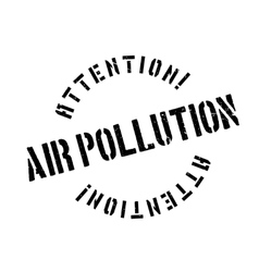Air Pollution rubber stamp vector image