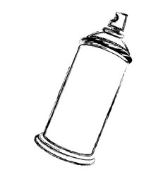 Blurred side view silhouette aerosol spray bottle vector