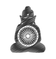 Buddha india culture icon vector